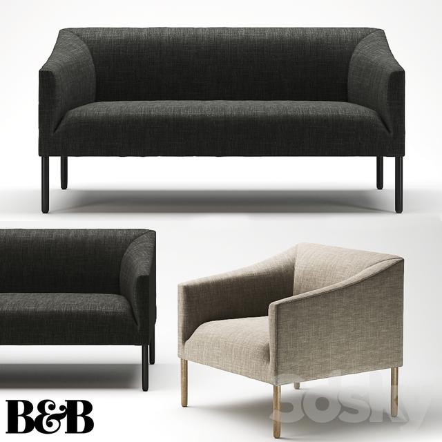 3d models sofa sofa b b italia bankside