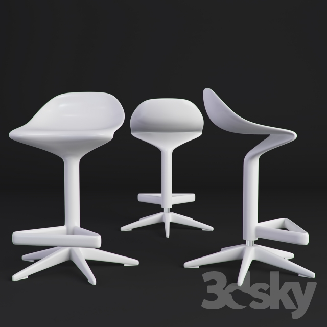 3d models: Chair - Kartell spoon bar stool