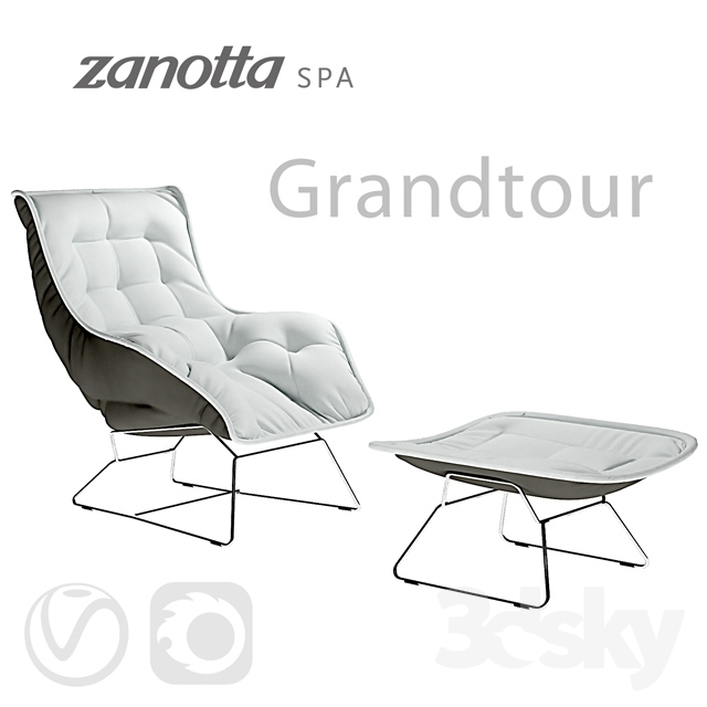 3d Models Arm Chair Zanotta Grandtour Armchair With