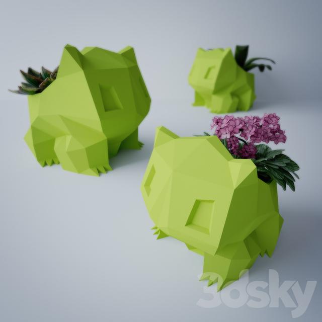 3d Models Indoor Flower Pot Bulbasaur