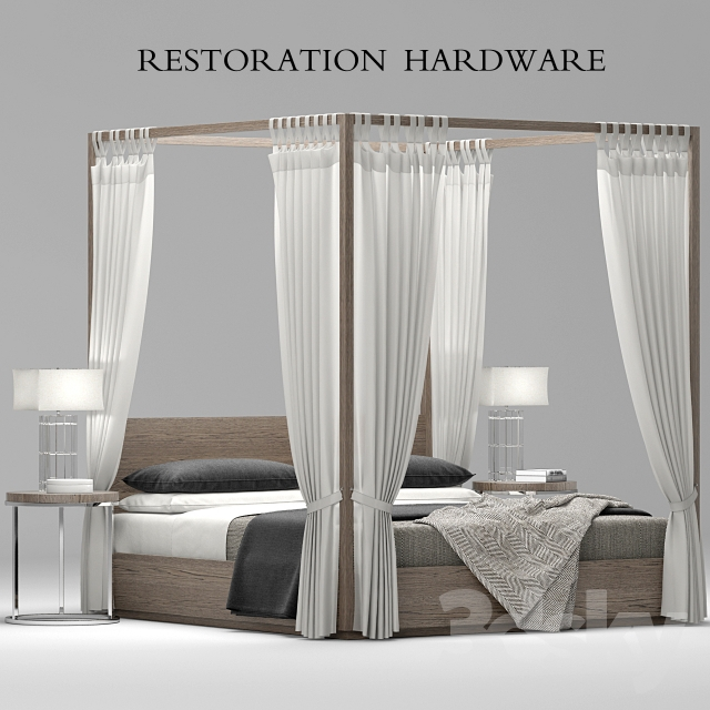 Restoration Hardware Modern: RH Modern Machinto Four-poster Bed
