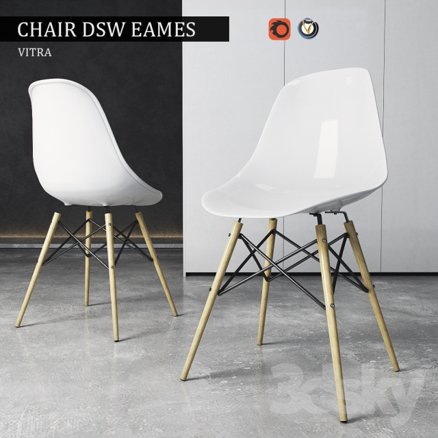 3d models chair chair vitra dsw eames plastic side. Black Bedroom Furniture Sets. Home Design Ideas