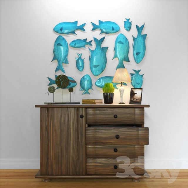 3d models other decorative objects fish decor for Decorative objects for home