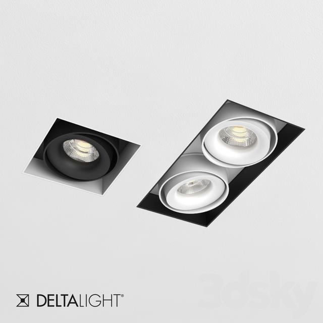 3d models spot light delta light minigrid in trimless. Black Bedroom Furniture Sets. Home Design Ideas
