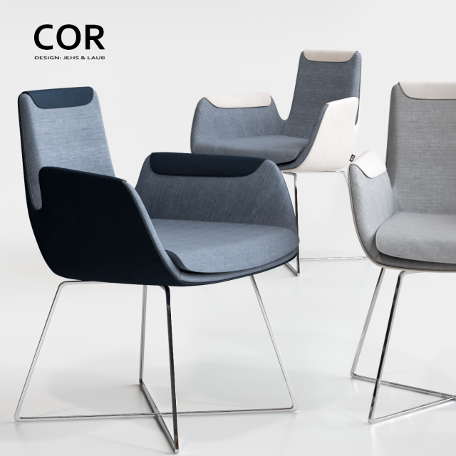 3d Models Table Chair COR Cordia Stuhl And Delta