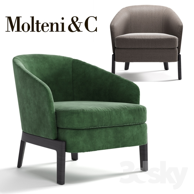 3d models arm chair molteni c chelsea armchair for Molteni furniture