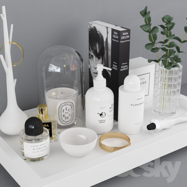 Bathroom Set With Tray : D models bathroom accessories decorative set decor
