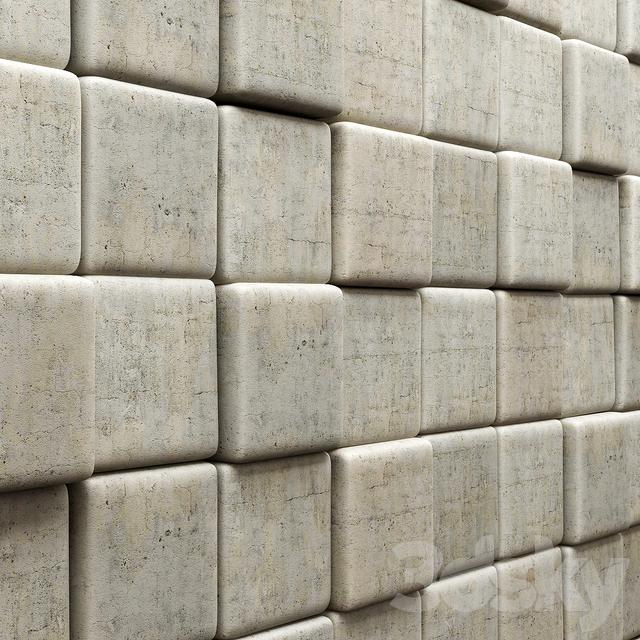 Decorative Stone Blocks : D models other decorative objects panel of stone blocks
