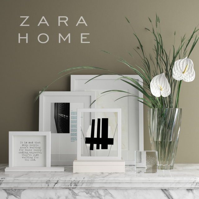 3d models decorative set zara home decorative set. Black Bedroom Furniture Sets. Home Design Ideas