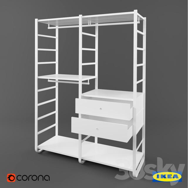 3d models wardrobe display cabinets ikea elvarli ikea elvarli. Black Bedroom Furniture Sets. Home Design Ideas