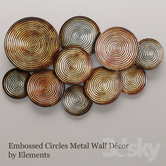 Models Other Decorative Objects Embossed Circles Metal Wall Décor By Elements