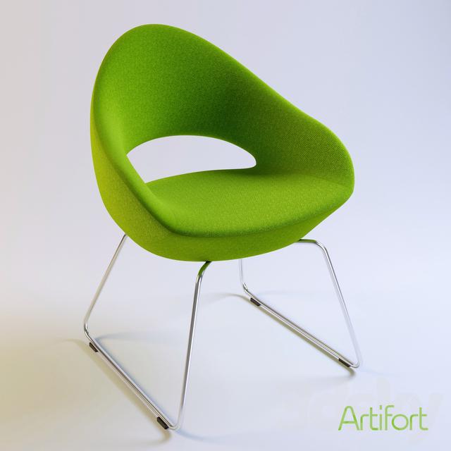 3d models chair shark artifort chair