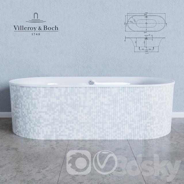 3d models bathtub villeroy boch cetus bq190ceu7v. Black Bedroom Furniture Sets. Home Design Ideas