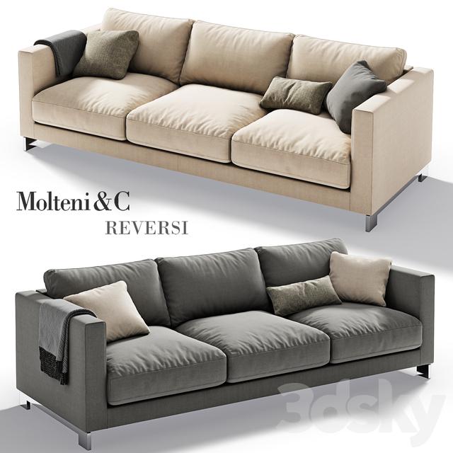 3d models sofa molteni c reversi sofa 2. Black Bedroom Furniture Sets. Home Design Ideas