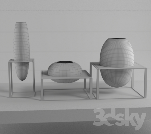 3d models vase fendi casa cube murano vases. Black Bedroom Furniture Sets. Home Design Ideas