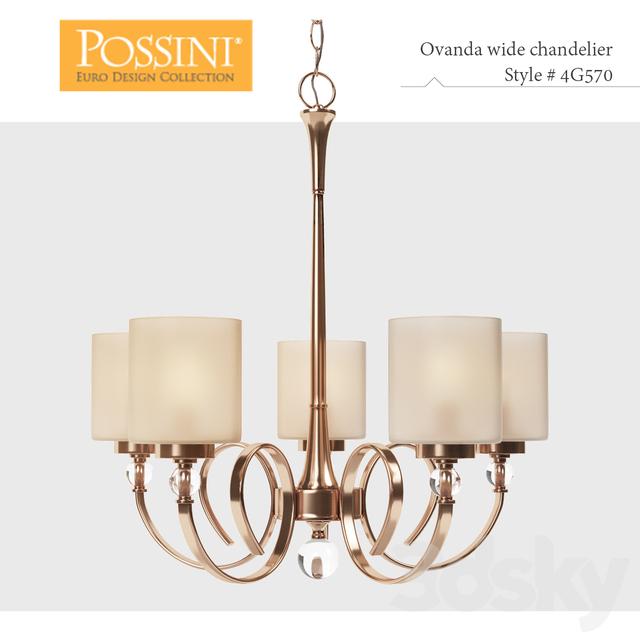 3d Models Ceiling Light Lamp Possini Euro Design Ovanda