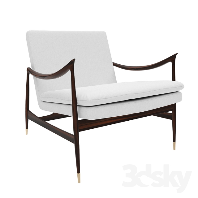 3d Models Arm Chair Espasso Dinamarquesa