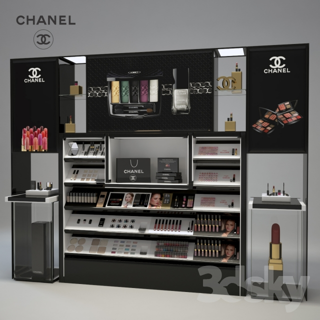 3d models beauty salon chanel cosmetics display for Jewelry stand 3d model