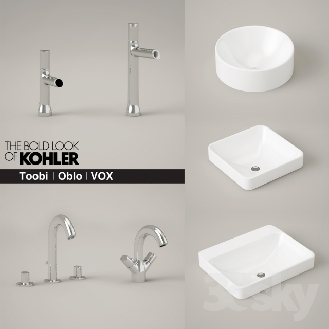Attrayant KOHLER Toobi And Oblo Faucets And Vox Sinks