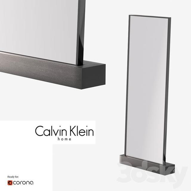3d models: Mirror - Clavin Klein walnut floor mirror