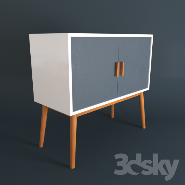 3d models sideboard chest of drawer design sideboard holz. Black Bedroom Furniture Sets. Home Design Ideas