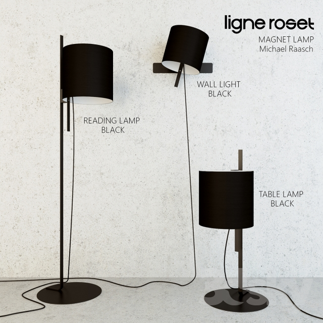3d models table lamp ligne roset magnet lamp. Black Bedroom Furniture Sets. Home Design Ideas
