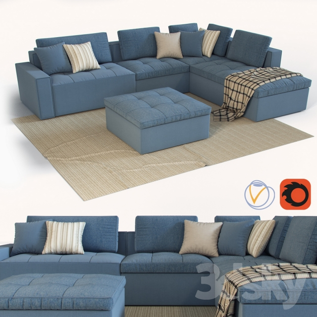 3d Models Sofa Modular Sofa Calligaris Lounge Mix 02