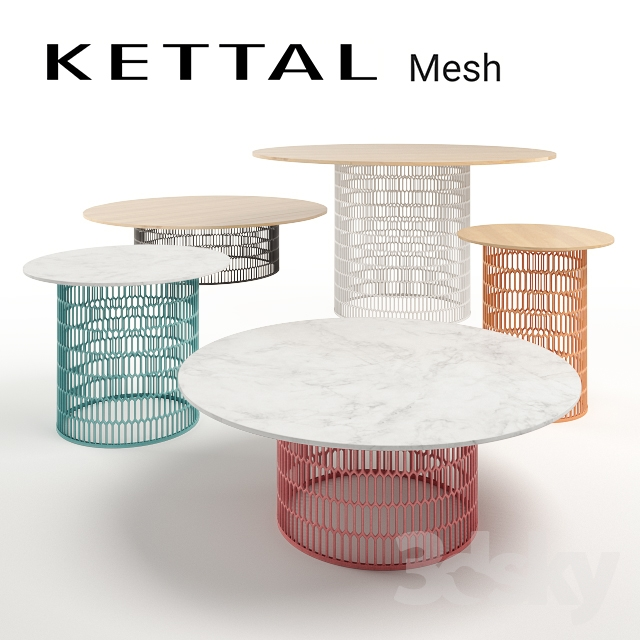 3d models table kettal mesh tables for Table design 90 cm