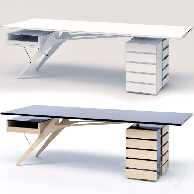 3d models table zanotta cavour office table for Table zanotta