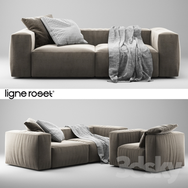 3d models sofa ligne roset nils armchair and sofa. Black Bedroom Furniture Sets. Home Design Ideas