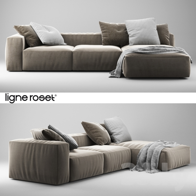 3d models sofa ligne roset nils sofa large. Black Bedroom Furniture Sets. Home Design Ideas
