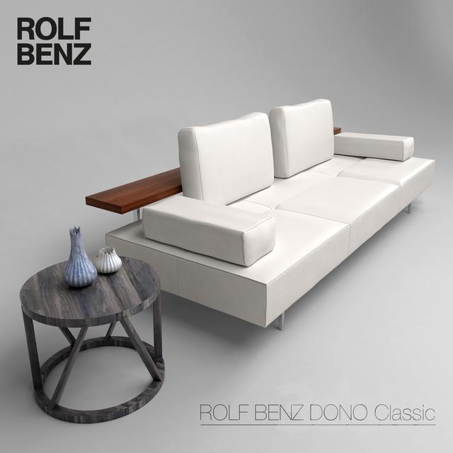 3d models sofa rolf benz dono. Black Bedroom Furniture Sets. Home Design Ideas