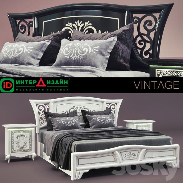 3d models bed inter design vintage for Bed dizain image