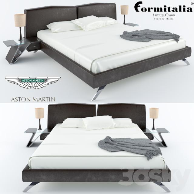 3d models: bed - bed formitalia aston martin