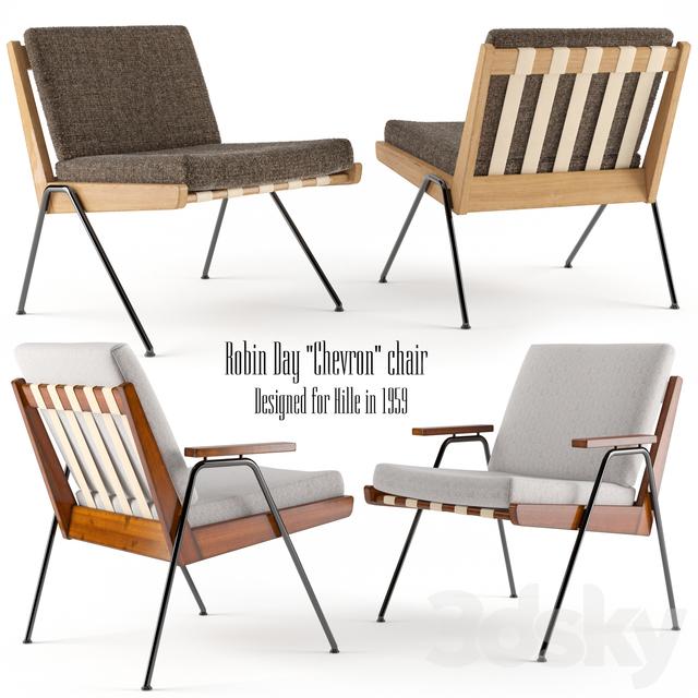 3d Models Arm Chair Robin Day Chevron Chair Hille 1959