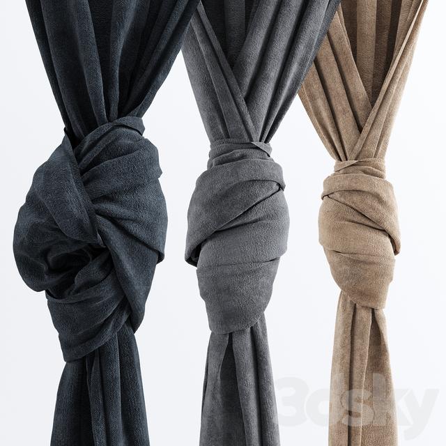 3d Models Curtain Curtains Zavyazyannye Knot