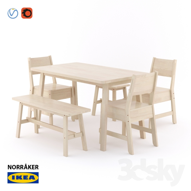 3d models Table Chair IKEA NORRAKER NORROKER : 69502458125ec82ab63 from 3dsky.org size 640 x 640 jpeg 144kB