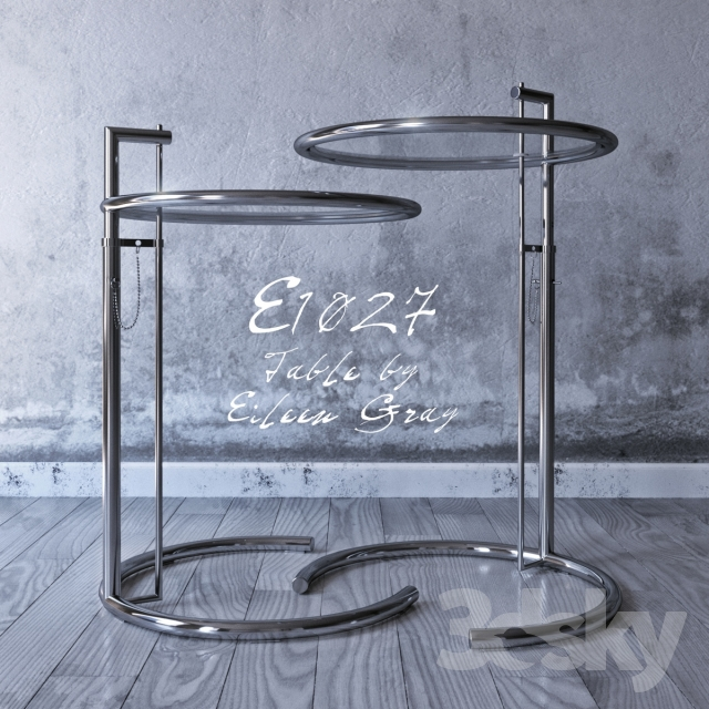 3d models table eileen gray e1027 side table - E 1027 table by eileen gray ...