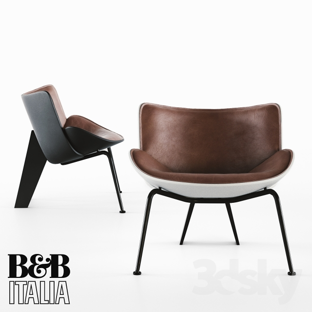 3d models arm chair armchair b b italia do maru. Black Bedroom Furniture Sets. Home Design Ideas