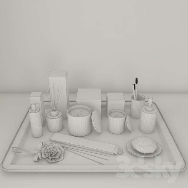 3d models bathroom accessories zara home botanical for 3d bathroom accessories
