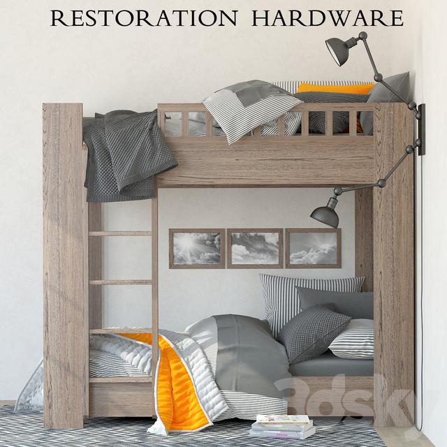 3d models Bed Restoration Hardware Callum bunk bed