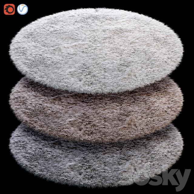 Round Fluffy Carpet