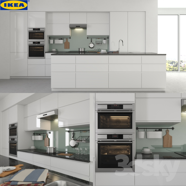 Ikea Kitchen All In One: 3d Models: Kitchen