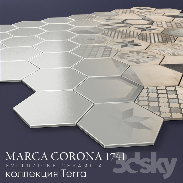 3d models tile porcelain marca corona terra. Black Bedroom Furniture Sets. Home Design Ideas