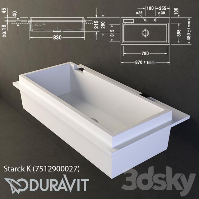 3d models: Wash basin - Sink Duravit Starck K (7512900027)