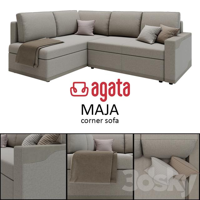 3d Models Sofa Corner Sofa Maja Agata Meble