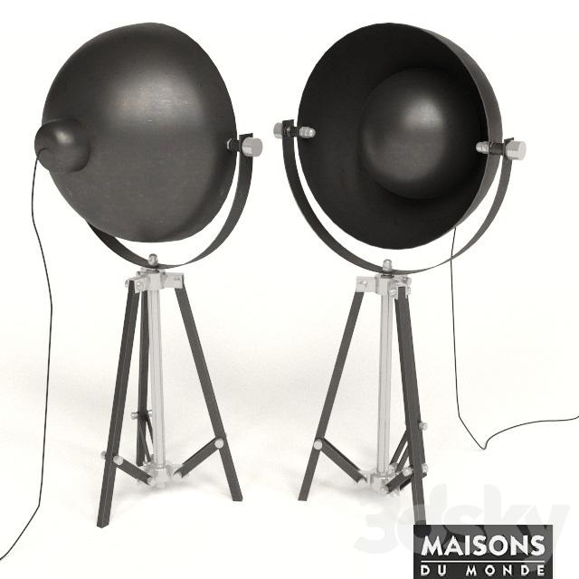3d models floor lamp lampe photographe maisons du monde - Maison du monde lampes ...