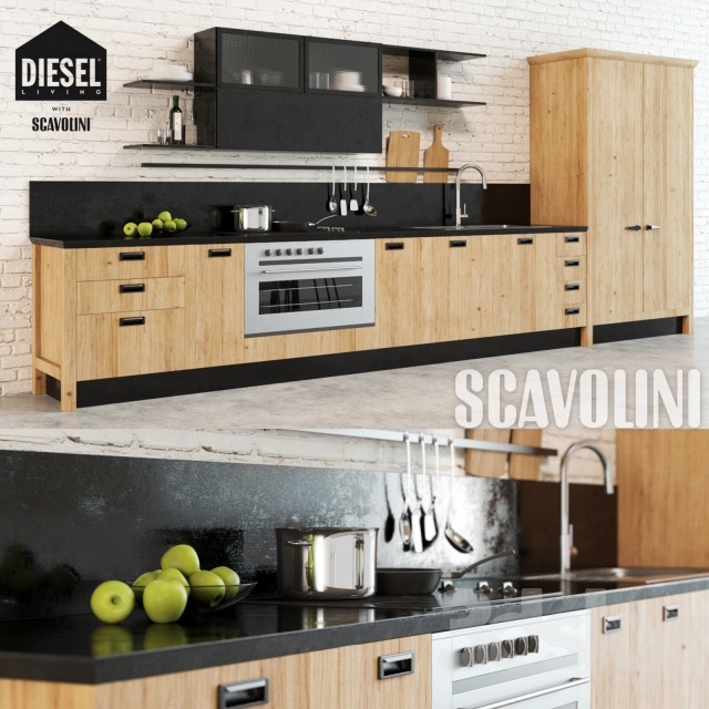 3d models: Kitchen - Scavolini Diesel Social Kitchen 1