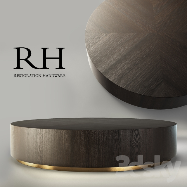 Martens Round Coffee Table Restoration Hardware 36 Inch: RH Machinto Round Coffee Table