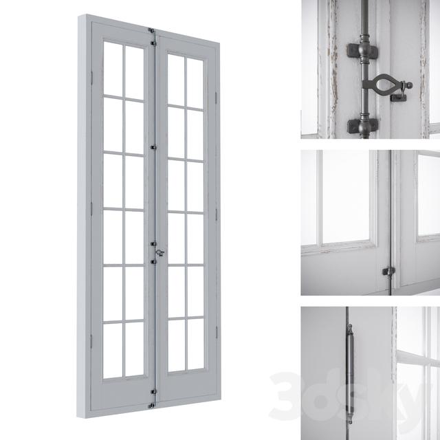 French balcony door  sc 1 th 225 & 3d models: Doors - French balcony door